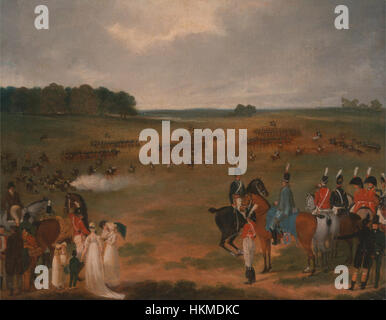 A Review of the London Volunteer Cavalry and Flying Artillery in Hyde Park in 1804 - Google Art Project - Stock Photo