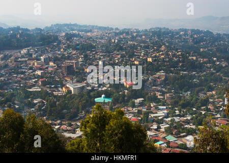 Cityscape of Gondar, Ethiopia - Stock Photo
