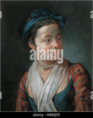 Jean-Baptiste Simeon Chardin - Portrait of a Young Girl - Stock Photo