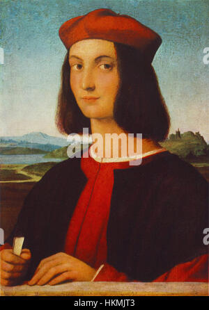 Raffaello Sanzio - Portrait of Pietro Bembo - WGA18622 - Stock Photo