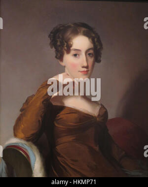 Oil on canvas portrait of Elizabeth McEuen Smith by Thomas Sully, 1823, Honolulu Academy of Arts - Stock Photo