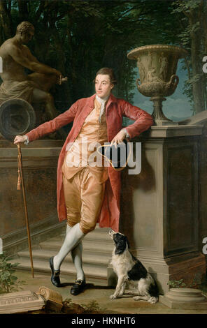 Portrait of John Talbot, Later First Earl Talbot by Pompeo Batoni, 1773, J. Paul Getty Museum - Stock Photo