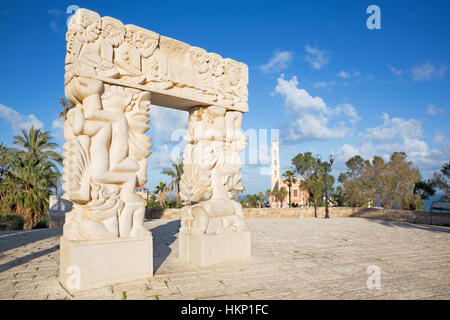 TEL AVIV, ISRAEL - MARCH 2, 2015: The modern contemporary sculpture 'Statue of Faith in Gan HaPisga Summit Garden - Stock Photo