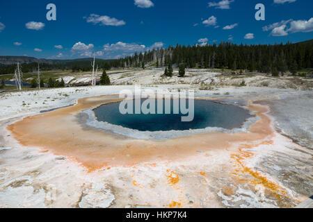 Upper Geyser Basin, Yellowstone National Park, Wyoming, USA - Stock Photo