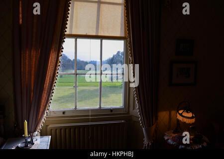 View from inside Arlington Court, Devon - Stock Photo
