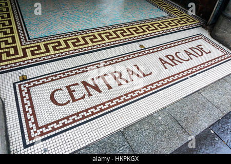 The entrance to Central Arcade, Newcastle. The arcade was built in 1906 & designed by the Newcastle firm of Oswald - Stock Photo
