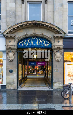 Central Arcade in Newcastle Upon Tyne. - Stock Photo