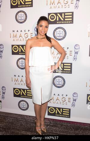 Susan Kelechi Watson attends The 48th NAACP Image Awards Nominees' Luncheon January 28th, 2017 in Loews Hollywood - Stock Photo