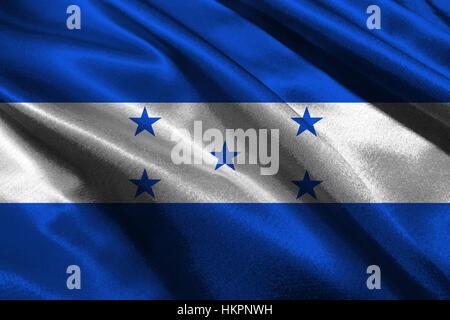 Honduras national flag 3D illustration symbol. - Stock Photo