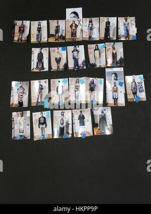 New York, NY - September 10, 2016: A view of the show board before the Namilia Spring 2017 fashion show during New - Stock Photo