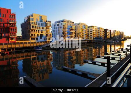 Frankfurt, Westhafen (Port West), Germany, March 2013 - Stock Photo