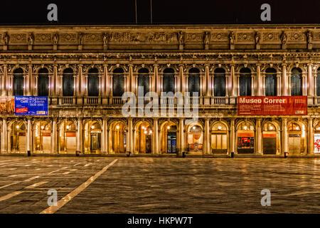 Italy Veneto Venice  San marco square Civic Correr Museum - Stock Photo