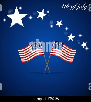 Happy independence day card United States of America. American Flag concept design, vector illustration. - Stock Photo