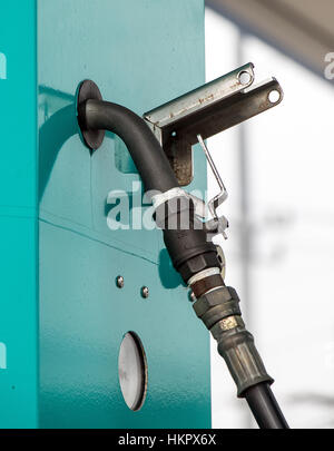 Filling station with pumps. Fuel dispensers LPG. - Stock Photo