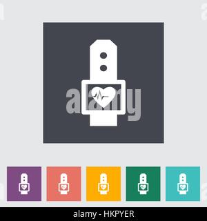 Pulsometer flat icon. Vector illustration. - Stock Photo