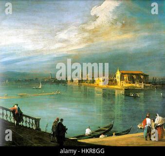 Canaletto, San Cristoforo, San Michele and Murano - Stock Photo