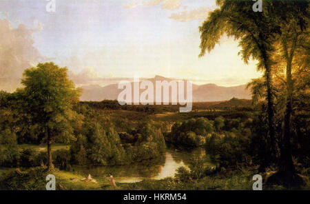 Cole Thomas View on the Catskill Early Autumn 1837 - Stock Photo