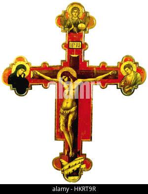 Crucifixion-paolo veneziano 1324-50 Trogir monast. - Stock Photo