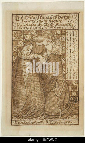 Dante Gabriel Rossetti - The Early Italian Poets (study for titlepage) 01 - Stock Photo