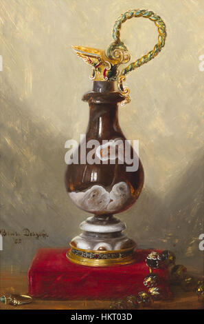 Desgoffe - Still Life with Ewer and Jewels - 1885 - Stock Photo