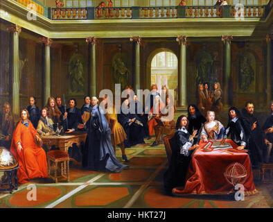 Dispute of Queen Cristina Vasa and Rene Descartes - Stock Photo