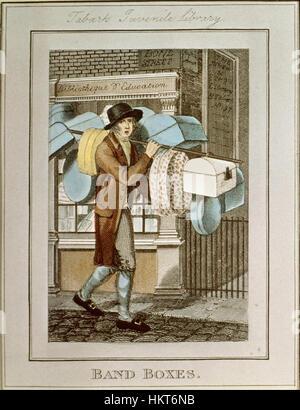Edwards, Edward; Craig, William Marshall; Phillips, Richard - print; hand-coloured copper plate engraving - Band - Stock Photo
