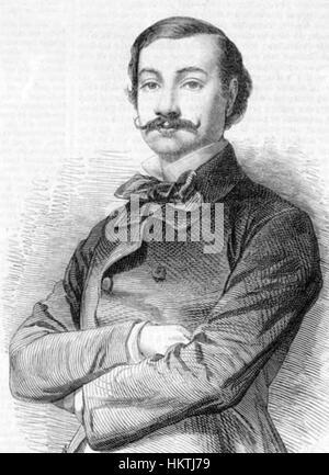 Francesco Graziani (baritone) 1855 - Stock Photo