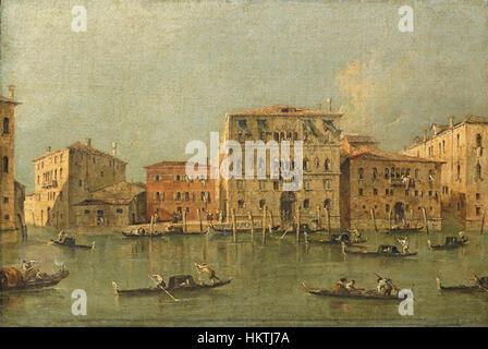 Francesco Guardi. View of the Palazzo Loredan dell'Ambasciatore on the Grand Canal, Venice - Stock Photo