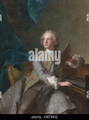 Francis Greville, Baron Brooke, later 1st Earl of Warwick (1719-1773), by Jean-Marc Nattier - Stock Photo