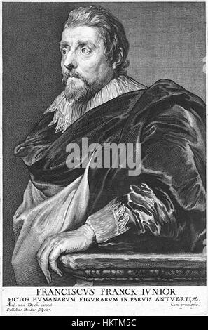 Frans Francken (II), by Willem Hondius - Stock Photo