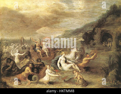 Frans II Francken Triumph of Amphitrite - Stock Photo