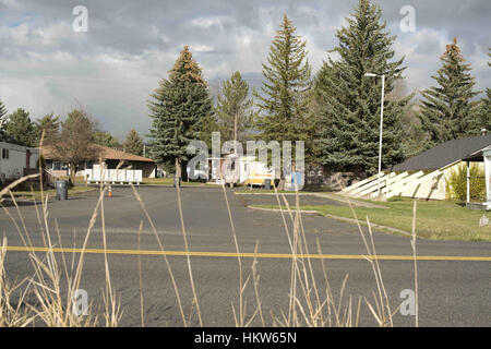 Moscow, Idaho, USA. 17th Nov, 2016. Syringa Mobile Home Park is located a few miles from downtown Moscow, Idaho. - Stock Photo