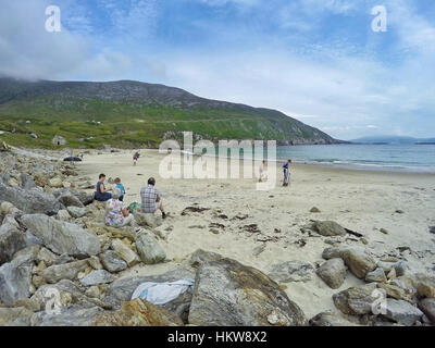 Remote secluded beach on the west coast of Ireland - Stock Photo