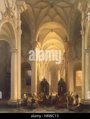 Genisson Interior Church Averbode - Stock Photo