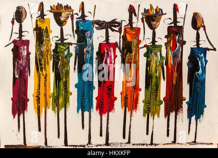 Painting On A Wall Maasai Women