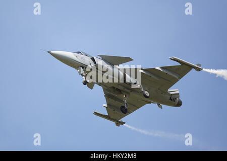 Swedish Air Force JAS 39 Gripen fighter jet - Stock Photo