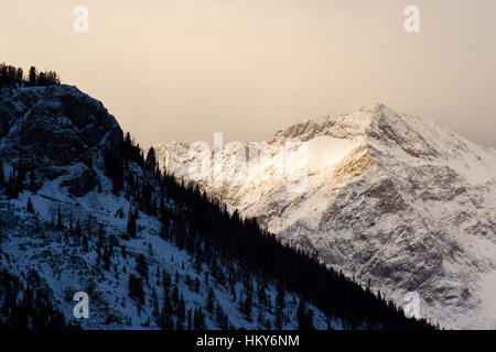 Sunset Boulder Mountains, Sawtooth National Recreation Area, Idaho. - Stock Photo