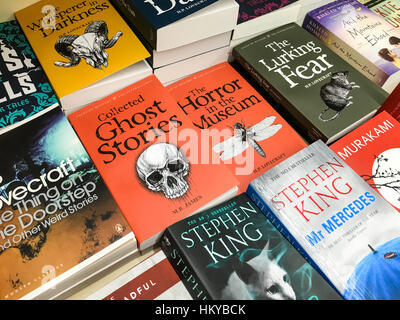 BUCHAREST, ROMANIA - MAY 05, 2016: Latest English Famous Novels For Sale In Library Book Store. - Stock Photo