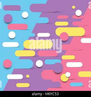 Abstract background design with shapes melting into each other. Vector illustration - Stock Photo