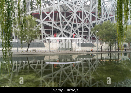National Stadium, Olympic Park Beijing, People's Republic of China, Asia - Stock Photo