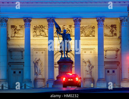 The place Royale at night in  Brussels - Stock Photo