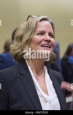 Uniondale, USA. 30th Jan, 2017. Nassau County Legislator Laura Curran, 48, candidate for Nassau County Executive, - Stock Photo