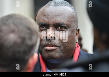Royal Courts Justice, London, UK. 31st January 2017. Fraudster and former Nigerian state governor James Ibori outside - Stock Photo