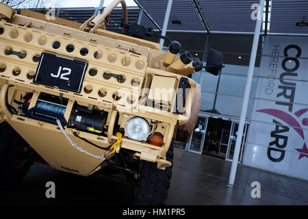 Hereford, UK. 1st February 2017. A Supacat HMT fighting vehicle on display outside the  Herefordshire Defence and - Stock Photo