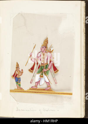 Indian - Leaf from Bound Collection of 20 Miniatures Depicting Village Life - Walters 35176L - Stock Photo