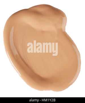 A cut out beauty image of a sample of liquid make up or foundation cream. - Stock Photo