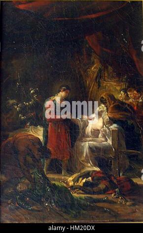 Guillon-Lethiere, Guillaume - Saint Louis visitant les victimes de la peste dans la plaine de Carthage - 1822 - Stock Photo