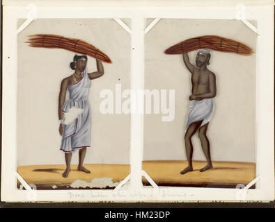 Indian - Leaf from Bound Collection of 20 Miniatures Depicting Village Life - Walters 35176F - Stock Photo