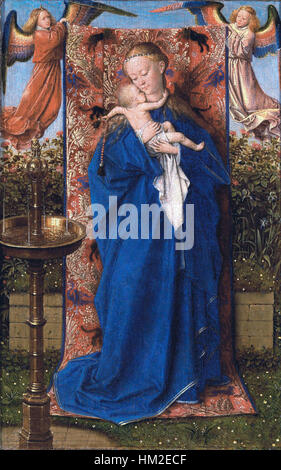 Jan van Eyck - Madonna and Child at the Fountain - WGA7619 - Stock Photo