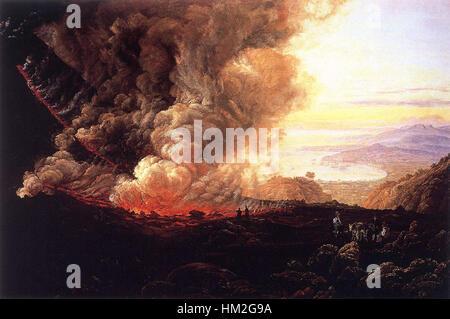 Johan Christian Claussen Dahl - Eruption of the Vesuvius - WGA05884 - Stock Photo